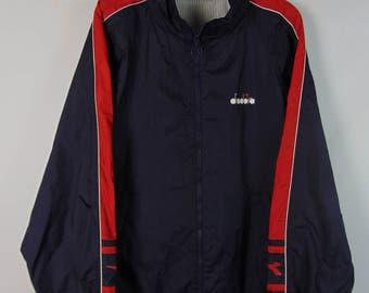 Vintage Navy/Red Diadora Jacket