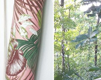 "Yoga bag ""pink jungle"" / Yoga mat bag / sports bag / pink, jungle leaves / vegan / / Yoga mat bag, ultra suede"