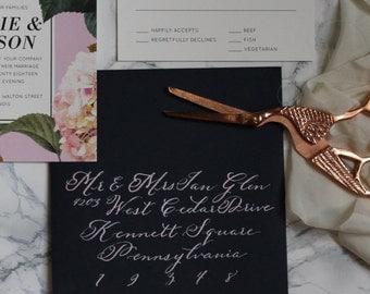 Custom Envelope Calligraphy : Emme Style