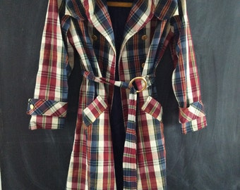 plaid has never been cooler than on this coat