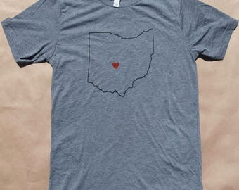 CUSTOM heart ohio tee