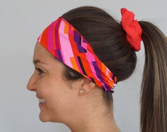 Pink/red/purple hair band