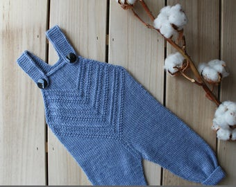 Knit Baby Romper / Knitted baby pants/ Knit baby outfit