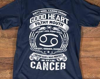 Cancer Zodiac T-shirt | Cancer Zodiac Shirt | Cancer Astrology Birthday Gift | Cancer Zodiac Sign | Cancer Horoscope Astrology T-shirt