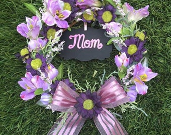 Spring Initial Mini Wreath