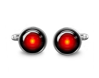 Hal 9000 Cuff Links Space Odyssey Cuff Links 16mm Cufflinks Gift for Men Groomsmen Geeky Cuff links Fandom Jewelry
