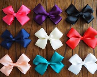 "5"" Grosgrain Ribbon Bows- Girls Hair Accessories- Teen Bow- Toddler Bow- Alligator Clip"