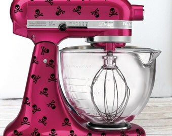 Skull and Crossbones Kitchen Mixer Decals