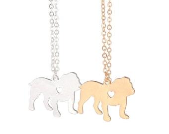 Bulldog Dog Necklace