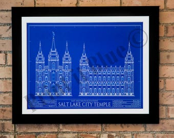 Salt Lake City Blue Print - East & South Elevation