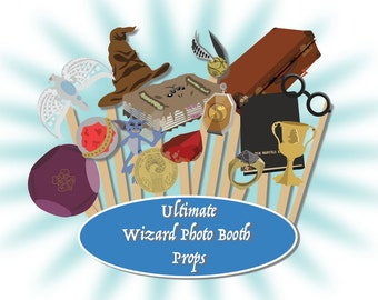 58 Harry Potter Photo Booth Props Instant Download PDF