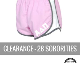 Sorority Shorts . Pink Liner Shorts . Stitched Greek Letters . Discontinued Sale Delta Gamma Shorts Delta Zeta Shorts Gamma Phi beta Shorts