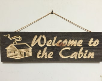 Barnwood Welcome To The Cabin