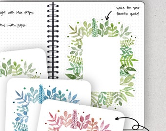 Flower Stickers, Flower Border - Journalspiration Bullet Journal Planner Stickers - 3 colors and 2 sizes