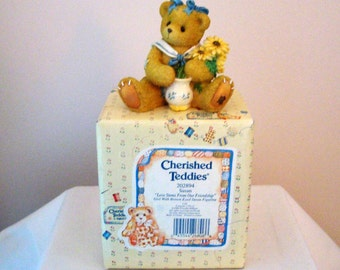 1996 Enesco Cherished Teddy Brown-Eyed Susan 'Love Stems From Our Friendship' Figurine