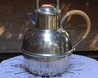 Vintage Hanle and Debter Distinctive American Pewter Coffee/Tea Pot