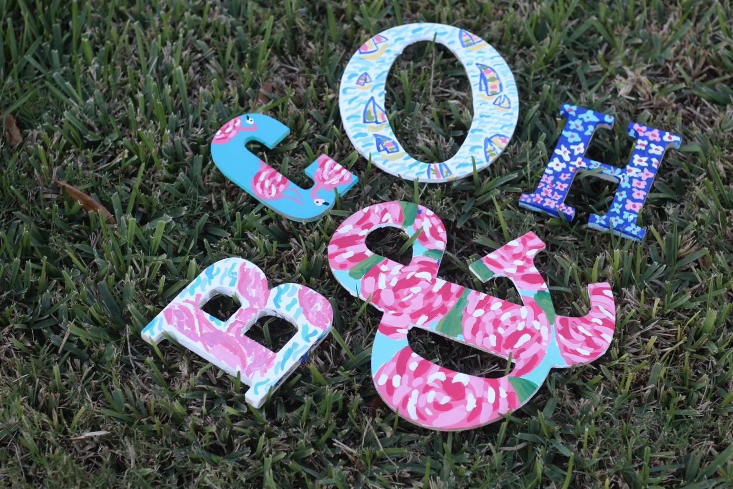 Wooden Letters Lilly Pulitzer First Impression Monogram