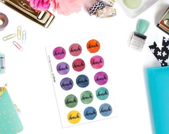 Watercolor Church Planner Stickers -Church Stickers for Erin Condren, Happy Planner Stickers, etc.