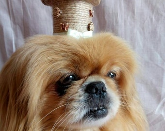 Dog hat for dogs 'Asian Charm' - Cute hats for dogs - Dog hat fascinators