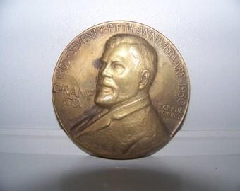 Medal brass Crane CO. Chicago 1930 - brass Medal skull CO. Chicago 1930