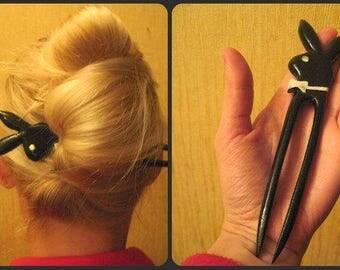 accesorios para el cabello para su aniversario regalo pelo barrette del pelo  pin peinen madera joyería de palillo del pelo pelo tenedor de conejito de