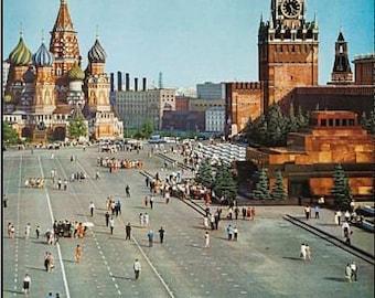 Vintage KLM Flights To USSR Soviet Union Airline Poster A3 Print