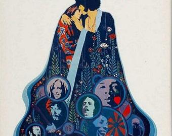 Vintage Woodstock Movie Poster A3 Print