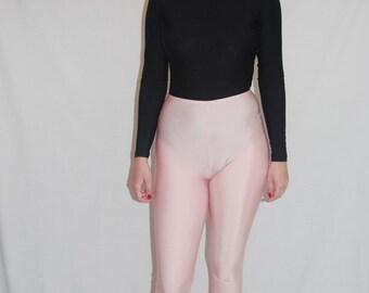 Debenhams 1980s Lycra Pink Vintage Leggings