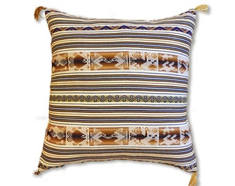 Peruvian style hancrafted pillow cover. 45*45cm /18*18inches. decorative pillow, accent pillow, peruvian pattern throw pillow. cushion