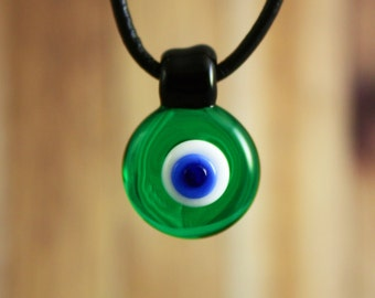 Evil Eye Pendant, Evil Eye Necklace, Evil Eye Jewelry, Evil Eye, Glass Pendant Necklace, Glass Pendant, Pendant Necklace, Spiritual Jewelry