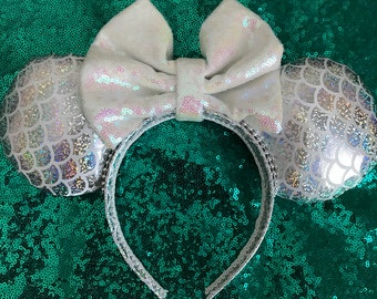 Inspired Holographic Mermaid Mickey / Minnie Mouse Ears