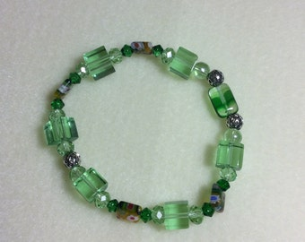 Green Glass Bracelet