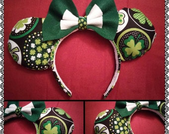 St. Patrick's Day Clover Mickey Ears