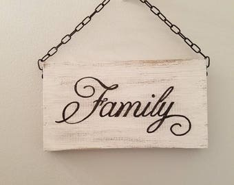 Hanging Family Sign, Rustic Decor, Country Decor, Entryway, Dining room, Living Room