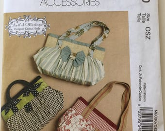 McCalls Fashion Accessories M6090 Bag Uncut Out of Print Pattern Copyright© 2010
