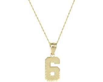 Diamond necklace men etsy 10k solid yellow gold number pendant singapore chain necklace set 0 9 diamond cut aloadofball Choice Image