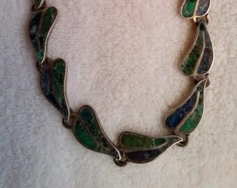 Los Castillo Azure and Malachite Necklace