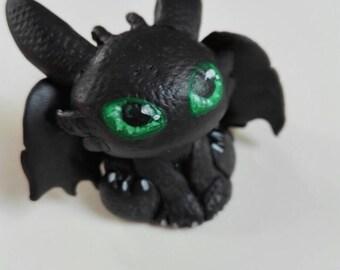 Dragon toothless chibi figurine; Dragon figure birthday gift how to train your dragon; Night fury