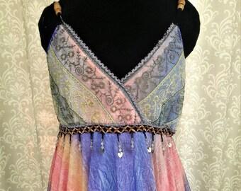 Tattered Fairy Inspired Wedding Dress, Fairy Prom Dress