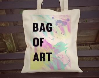 Handmade Bag Of Art Tote Bag Gift For An Artist School College Gift For Painter Painters Artist portfolio  bag