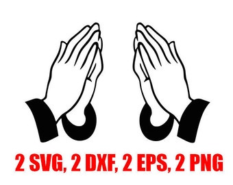 Praying hands svg, pray svg, God svg, svg, dxf, cricut, silhouette cutting file, instant download