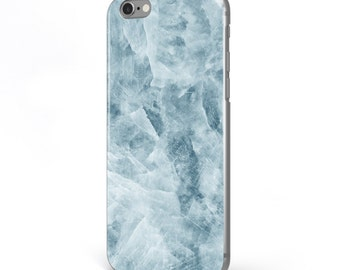 iPhone - Samsung Galaxy - TPU Soft Rubber Cell Phone Case - Blue Marble - High quality Soft Silicon-Designed and Printed in USA