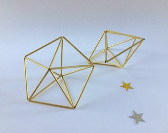 Set of two - Star Prism Brass Himmeli
