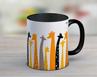 Giraffe gift, giraffe mug, gift for woman, ceramic mug, cute mug, giraffe coffee mug, gift for her, coffee mug, tea cup, coffee lover gift