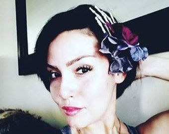 Goth From The Grave Hair Clip / Rockabilly Pinup Hair Accessories