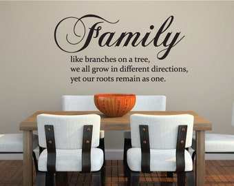 Family Wall Sticker Quote Vinyl Decal Mural - Design For Home Decor UK. *FREE P&P!* Christmas Gift