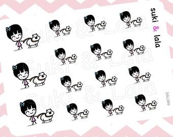 Walk the Dog Planner Stickers, Pet Sitting Planner Stickers, Dog Planner stickers, Dog Walking Planner Stickers, Planner Stickers (SAL069)