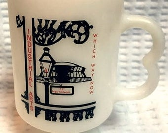 Vintage glass mug from an Industrial Arts convention in New Orleans in 1977!