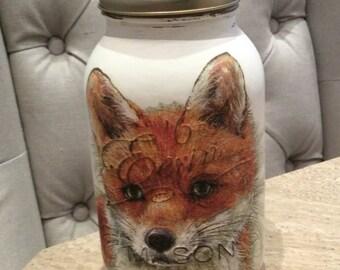 Mason Jar Kilner Jar FOX Mason Jar in Cream Kilner Style