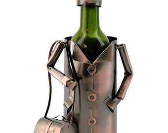 Doctor surgeon Bronze Metal Wine Bottle Holder Character